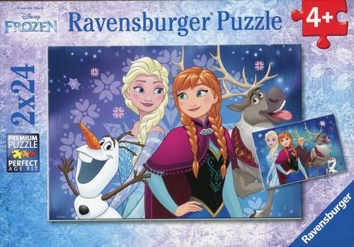 Puzzle 2w1: Kraina Lodu - Przyjaciele (090747)