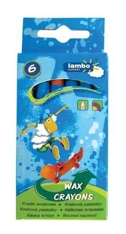 Kredki szkolne woskowe 6 kolorów LAMBO (L331K6)