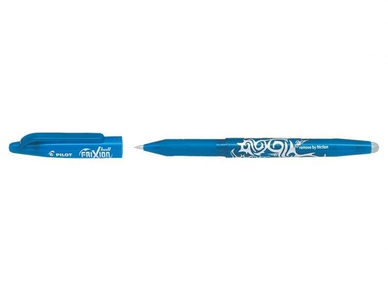 Wymazywalne pióro kulkowe Pilot FriXion Ball - jasnoniebieskie (BL-FR7-LB)