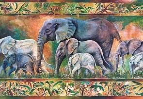 Puzzle 1000 Copy of Parade of Elephants (102747) praca zbiorowa