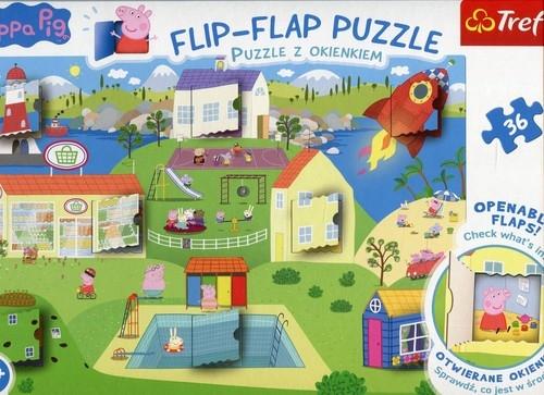 Świat Świnki Peppy: Flip-Flap Puzzle z okienkiem 36 (14274)