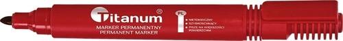 Marker permanentny czerwony 12 sztuk