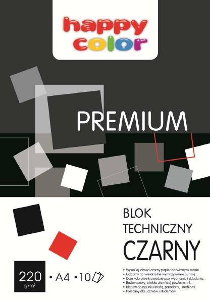 Blok techniczny A4/10 - czarny (3722 2030-9)