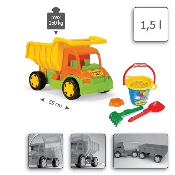 Gigant Truck z kompletem do piasku (65002)