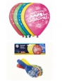 Balony z nadrukiem HAPPY BIRTHDAY FAJERWERKI (GS110/P041)