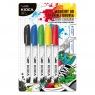 Markery Kidea do obuwia i tkanin - 5 kolorów (MOT5KA)