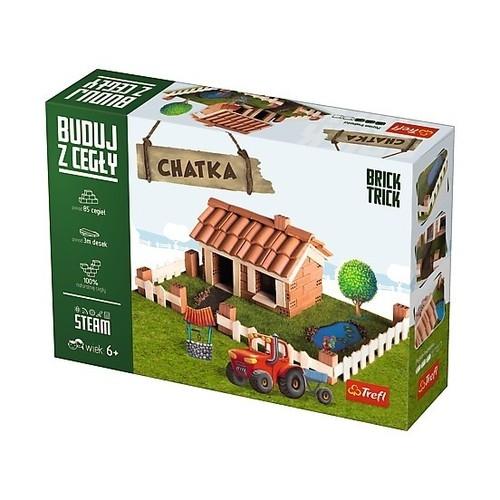Puzzle  3D Buduj z cegły Chatka M (60874)