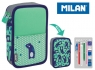 Piórnik MILAN 2-poziomowy z wyposażeniem NET & LIT zielony