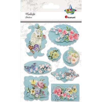 Naklejka ramki - kwiaty (389900)
