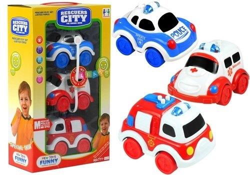 Zestaw pojazdów Straż Policja Pogotowie ratunkowe