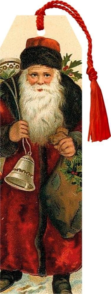 Zakładka 74 ze wstążką Święta Mikołaj