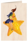 Karnet drewniany C6 + koperta Święta Kobieta na gwieździe