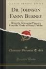 Dr. Johnson Fanny Burney