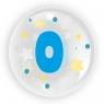 """Balon 45 cm - """"Cyfra 0"""" niebieski (TB 3600)"""