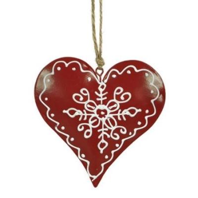 Serce - ozdoba wisząca CHRISTMAS JOY