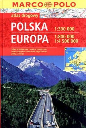 Kombiatlas Europa 1:800T,4.5Mio./ Polska 1:300 000 (2012) praca zbiorowa