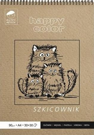 Szkicownik na spirali Młody Artysta A4/60k (361284)