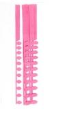 Płatkowe paski do quillingu stokrotka i frędzle - różowe, 12 szt. (QGPQ-053)