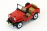IXO Willys Jeep CJ3B 1953 (red) (PRD365)