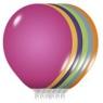 Balony metaliczne MIX B75  23cm. 25szt.  /0752/