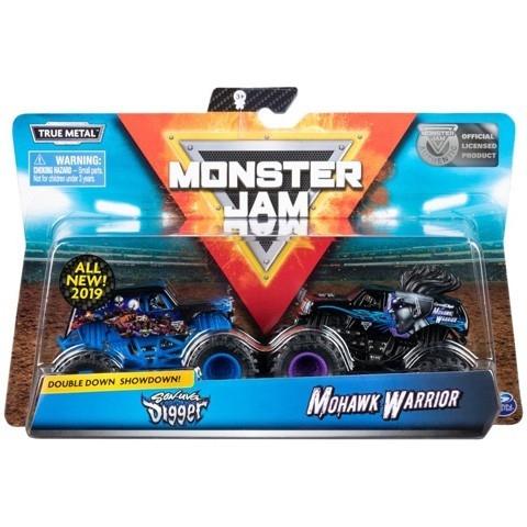 Auta MONSTER JAM 1:64 2- pak, Sonuva Diger vs Mohawk Warior (6044943/20105514)