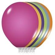 Balony metaliczne MIX B75  23cm. 25szt.  /0752/ 0752