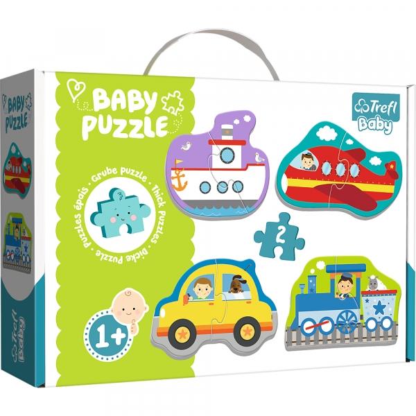 Puzzle Baby Classic 4w1: Pojazdy transportowe (36075)