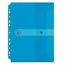 Teczka A4 PP na dokumenty do segr. transparentna Niebieska