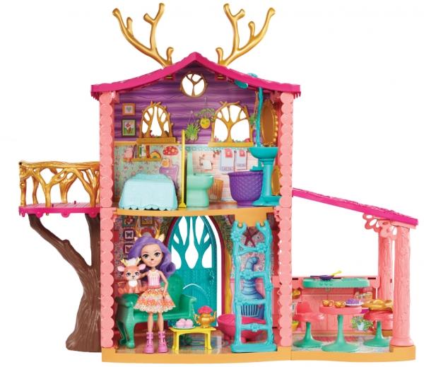 Lalka Enchantimals + domek jelonków (FRH50)