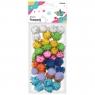 Pompony brokatowe, 110 szt. - mix kolorów (338550)