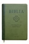 Biblia Pierwszego Kościoła ciemno-zielona z paginatorami i suwakiem