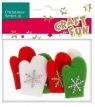 Ozdoba dekoracyjna filc rękawiczki (384007)