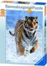 Puzzle 500 Tygrys w śniegu (144754)