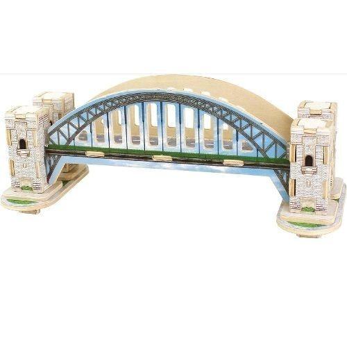 Puzzle drewniane 3D Most
