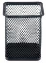 Pojemnik na długopisy metalowy kwadratowy - czarny (185242)
