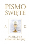 Pismo Święte Starego i Nowego Testamentu Białe Pamiątka I Komunia Świętej Romaniuk Kazimierz