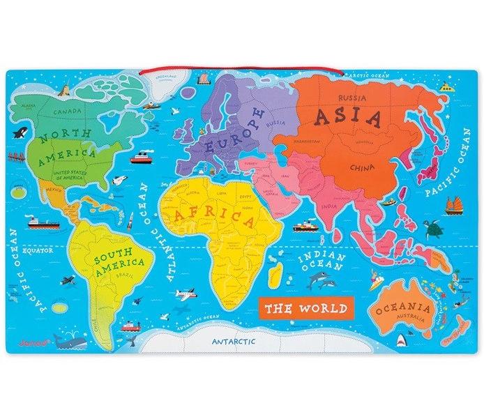Puzzle magnetyczne Mapa świata (J05504)