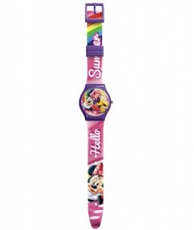 Zegarek analogowy, slim, brokatowy - Myszka Minnie (WD20382)