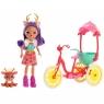 Enchantimals: Lalka Danessa Deer i zwierzątko Sprint + rower dla dwojga