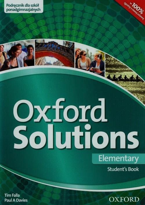 Oxford Solutions Elementary Podręcznik Falla Tim, Davies Paul A.