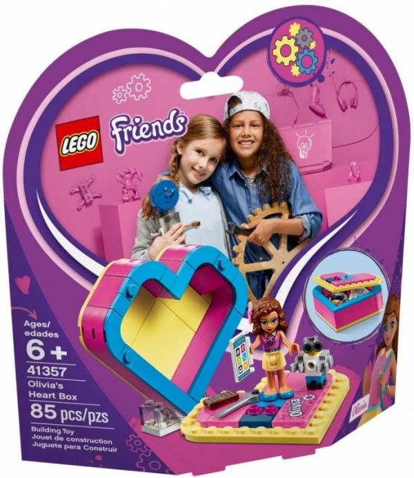 Klocki Friends Pudełko w kształcie serca Olivii (41357)