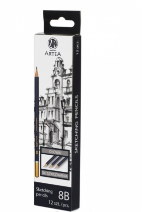 Ołówek do szkicowania 8B Artea Box (12szt) ASTRA
