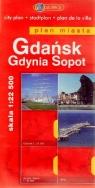 Gdańsk Gdynia Sopot Plan miasta 1:22 500