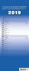 Kalendarz notatnikowy niebieski 2019 (N542-19)