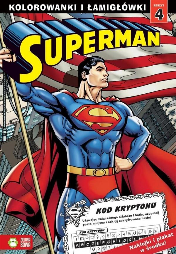 Superman Kolorowanki i łamigłówki Część 4