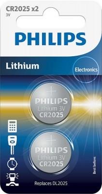 Bateria Philips CR2025 Lithium 2/bl