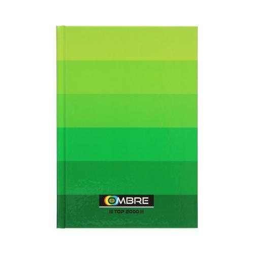 Brulion Top 2000 Ombre, A5/96k, kratka - zielony (400089374)