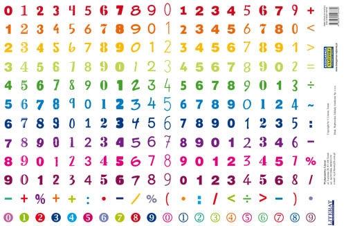 Naklejki Cyfry (240 naklejek)