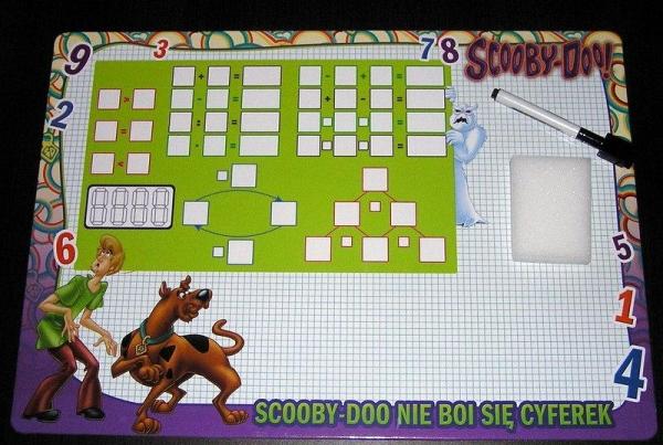 Tablica suchościeralna średnia Scooby Doo  (0876)