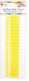 Płatkowe paski do quillingu piwonia - żółte, 12 szt. (QGPQ-039)